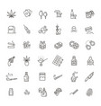 simple set of drugs related line icons vector image vector image