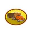 vintage logging truck vector image