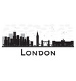 London skyline black and white silhouette vector image vector image