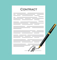 Contract icon vector image