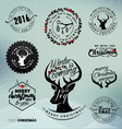 Christmas Design Elements Badges and Labels vector image vector image