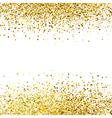 Shiny golden glitter on white background vector image