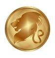 Leo gold medallion drive vector image