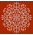 Highly Detailed Lacy Snowflake vector image vector image