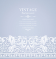 antique blue card with victorian ornament vector image