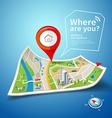Map points navigatorFolded maps navigation vector image