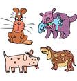 Set of cartoon curious dogs cartoon vector image
