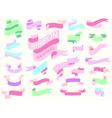 ribbon banner pastel vector image