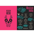 Menu mexican restaurant template placemat vector image