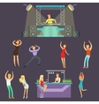 Young Happy People Dancing In Night Club And vector image