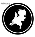 white map of netherlands on black vector image