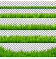 green grass borders collection vector image