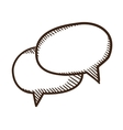 Speech bubbles dialogue elements vector image