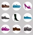 Shoe icons vector image vector image