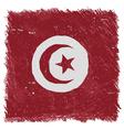 Flag of Tunisia handmade square shape vector image