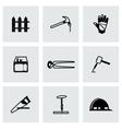 Carpenty icon set vector image