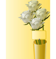 roses in vase vector image vector image