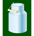 milk cans vector image