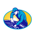 automobile mechanic vector image
