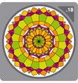 abstract colorful circular decorative ornament vector image