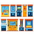game machine arcade gambling games in vector image