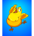 Happy chick dancing alone vector image