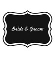 just married label icon simple style vector image
