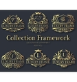 Luxury gold label collection design set vector image