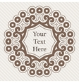 ornate richly decorated vintage frame in vector image