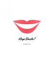 red lips logotype icon vector image