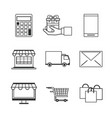 shopping online icons vector image