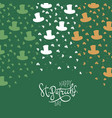 st patricks day background clover leafs and vector image