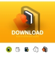 Download icon in different style vector image vector image