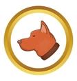 Head of dog icon vector image