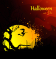 moon and witch halloween vector image vector image