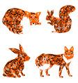 animal fox hare squirrel vector image