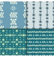 Seamless ethnic pattern set vector image