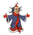 cartoon Chinese grandfather Christmas standing vector image