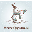 Hand drawn vintage christmas card vector image