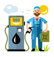 refueller man flat style colorful cartoon vector image