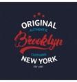 Vintage Brooklyn label vector image