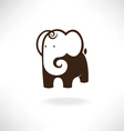 elephant in symbol style vector image vector image