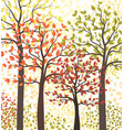 autumn multicolored forest vector image