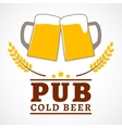 Beer pub poster vector image