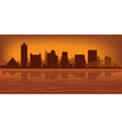 memphis tennessee skyline vector image vector image