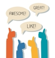 Awesome Great Like vector image