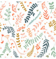 abstract botanical seamless pattern vector image