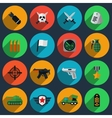 Army and war icons vector image
