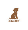 dog shop logo vector image