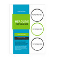 green and blue business card vector image